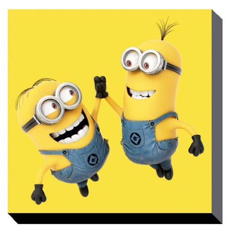 High 5 Minions Canvas Print (60cm x 60cm)  £37.99