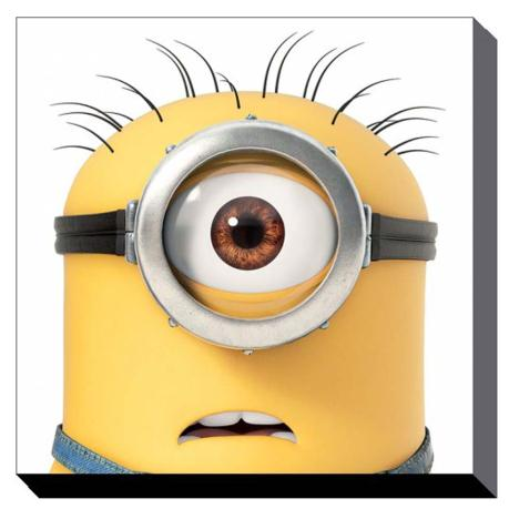 Minion Carl Close Up Canvas Print (60cm x 60cm)  £37.99