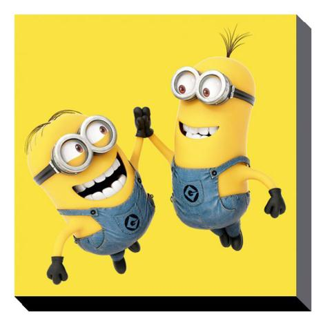High 5 Minions Canvas Print (85cm x 85cm)  £49.99