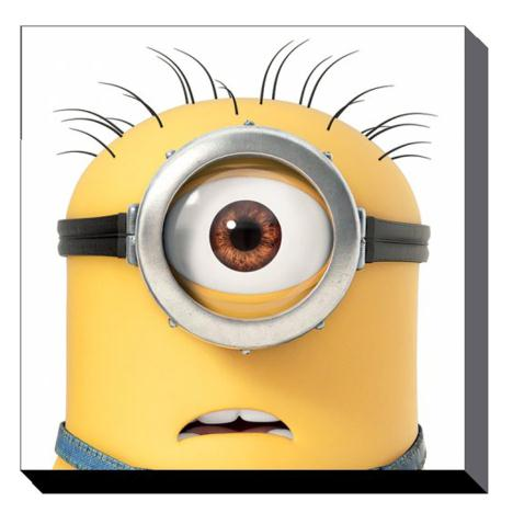 Minion Carl Close Up Canvas Print (85cm x 85cm)  £49.99